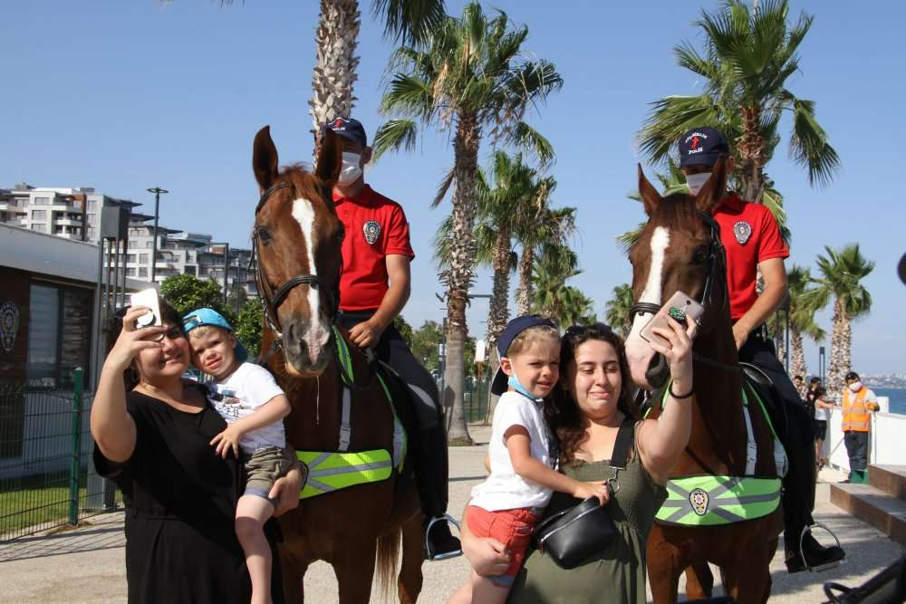 Mounted police in Antalya