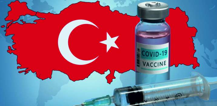84% of the Turkish population received the first dose of vaccine
