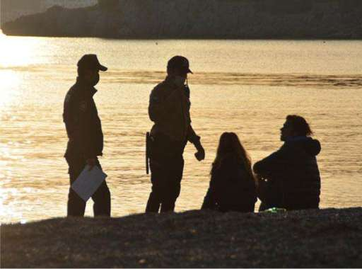 Sitting on the beach is banned in Bodrum