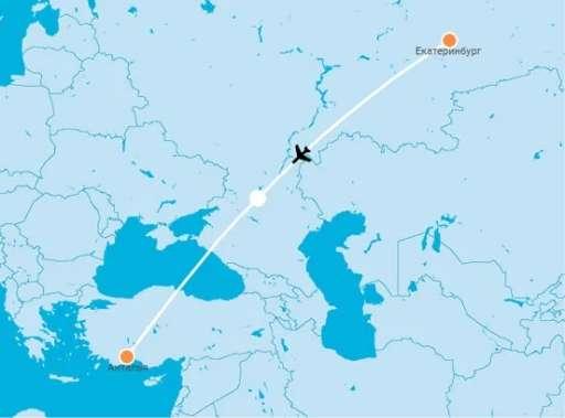 Yekaterinburg resumed charter flights with Antalya