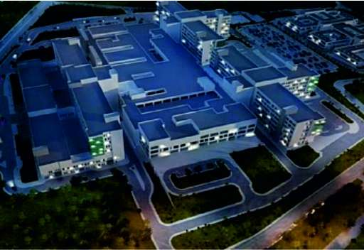 Construction of a city hospital in Antalya at the final stage