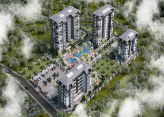 Apartments Under Construction in Quality Complex For Sale in Avsallar