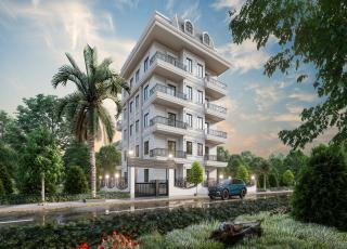 New 1+1 Apartments With Facilities For Sale in Mahmutlar